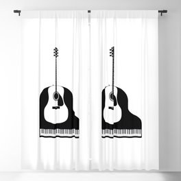 Piano and Guitar Blackout Curtain