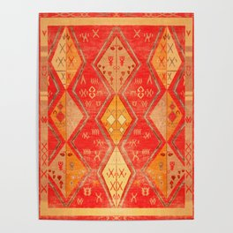N254 - Oriental Heritage Antique Traditional Tropical Color Moroccan Style Poster