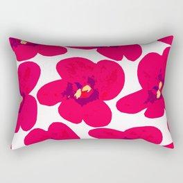 Red Retro Flowers #decor #society6 #buyart Rectangular Pillow