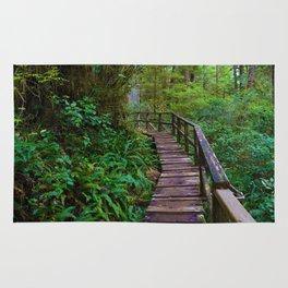 Rainforest Trail, Vancouver Island BC Rug