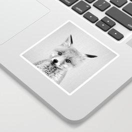 Baby Fox - Black & White Sticker