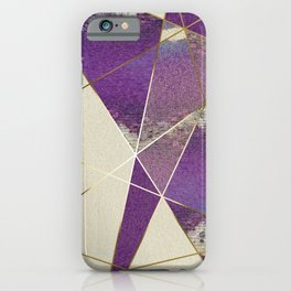 PURPLE FRAGMENTS 01 iPhone Case