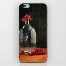 Still life with red Viburnum iPhone Skin