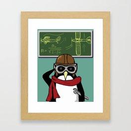 Little Penguin, Big Plans Framed Art Print