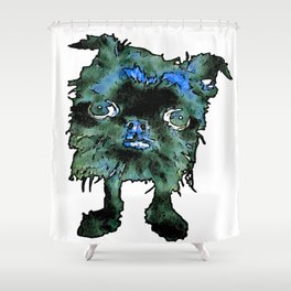 Lugga The Friendly Hairball Monster For Boos Shower Curtain