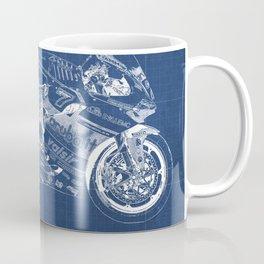 Bike blueprint coffee mugs society6 malvernweather Choice Image