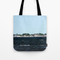 Distant Town Tote Bag