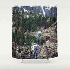 Mountain Pano Shower Curtain