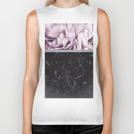 Light Purple Flower Meets Gray Black Marble #1 #decor #art #society6 Biker Tank