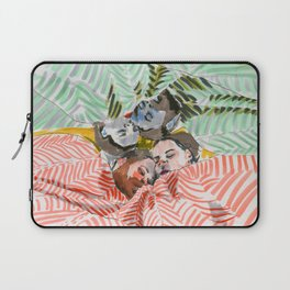 Ying Yang Couple in Bed Laptop Sleeve