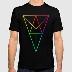 Rainbow Geometry Black MEDIUM Mens Fitted Tee