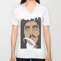 hook V-neck T-shirts featuring HOOK by Itxaso Beistegui Illustrations