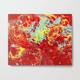 Splattered Metal Print