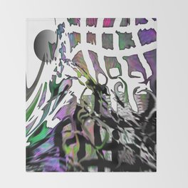 Distortion of the line Throw Blanket