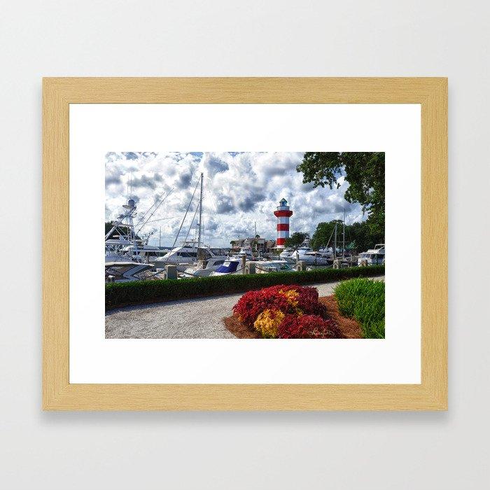Hilton Head Lighthouse Framed Art Print