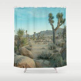 Joshua Tree Park - Light and Calm Shower Curtain