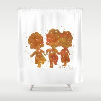 merida Shower Curtains featuring Triplets Brave Merida Disneys by Carma Zoe