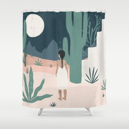 sonoran siren Shower Curtain