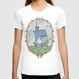 Sailing pirate yeti T-shirt