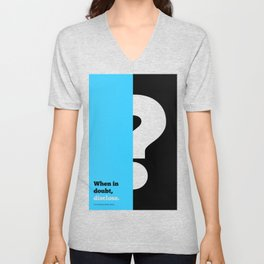 Lab No. 4 -When in doubt disclose N.r. Narayana Murthy Inspirational Corporate Startup Quotes Poster Unisex V-Neck