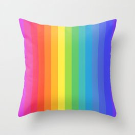 Solid Rainbow Throw Pillow