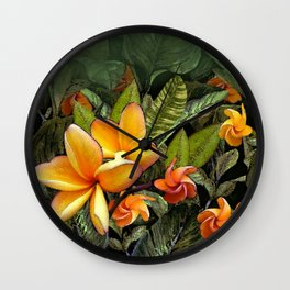 Hawaiian Plumeria at First Light Wall Clock