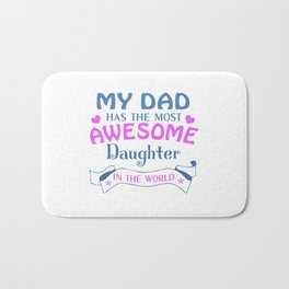 AWESOME DAUGHTER Bath Mat