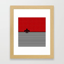 Cherry Red -  Dots and Lines Framed Art Print