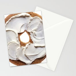 Bagel with Cream Cheese Stationery Cards