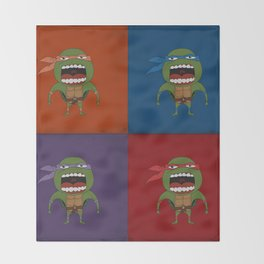 Screaming Turtles Throw Blanket