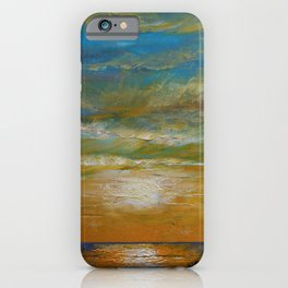 Hawaii Orange Sunset iPhone Case