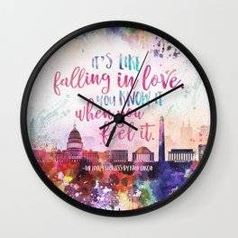 The Lovely Reckless - Like Falling in Love Wall Clock