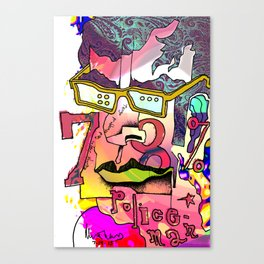 Jemaine versus the trembling salad bar illusion Canvas Print