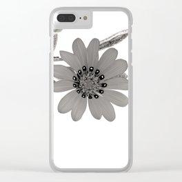 Frozen Flower Clear iPhone Case