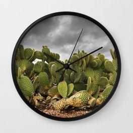 Driveway Cactus Wall Clock