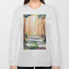Down The Forest Path Long Sleeve T-shirt