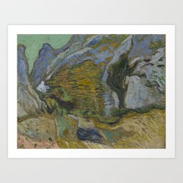 Ravine with a Small Stream Art Print