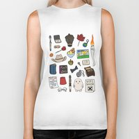 doctor who Biker Tanks featuring Doctor Who by Shanti Draws
