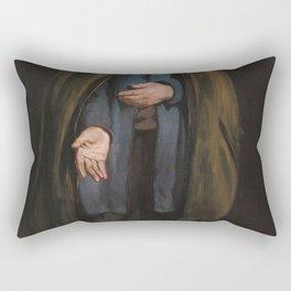 Edouard Manet - Beggar with a Duffle Coat (Philosopher) Rectangular Pillow