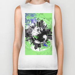 picture of the earth Biker Tank
