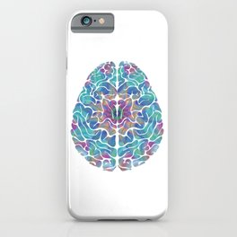 Human Anatomy Brain Psychedelic Gift Trippy Surreal Colorful iPhone Case