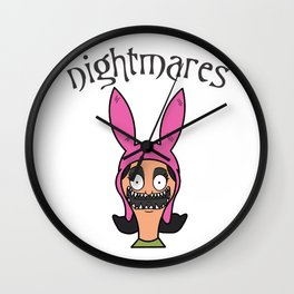 Louise Belcer Inspired Funny Nightmares Wall Clock