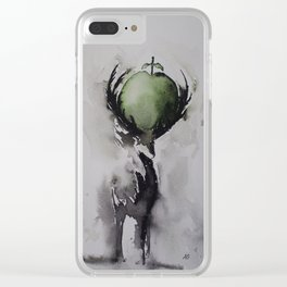 The deer and the apple Clear iPhone Case
