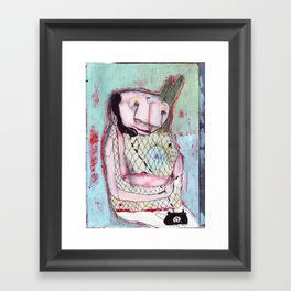 hello hello!! Framed Art Print