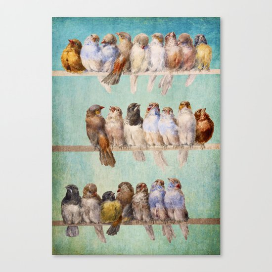 Birds Birds Birds Canvas Print