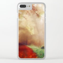 Tip Toe Through The Forest Clear iPhone Case