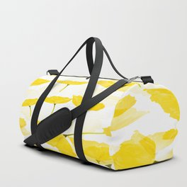 Light Yellow Poppies Spring Summer Mood #decor #society6 #buyart Duffle Bag