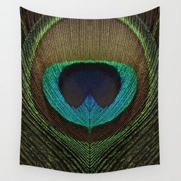 Peacock Feather Symmetry i Wall Tapestry