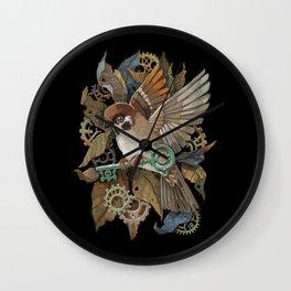 Clockwork Sparrow Wall Clock
