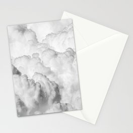 Ominous Fluffy Clouds Stormy Sky Stationery Cards